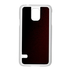 Abstract Dark Simple Red Samsung Galaxy S5 Case (white)