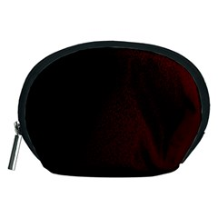 Abstract Dark Simple Red Accessory Pouches (Medium)