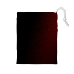 Abstract Dark Simple Red Drawstring Pouches (Large)