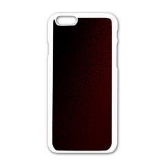 Abstract Dark Simple Red Apple Iphone 6/6s White Enamel Case