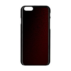 Abstract Dark Simple Red Apple iPhone 6/6S Black Enamel Case