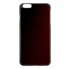 Abstract Dark Simple Red Apple Iphone 6 Plus/6s Plus Black Enamel Case