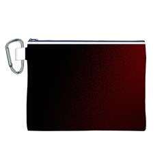 Abstract Dark Simple Red Canvas Cosmetic Bag (L)