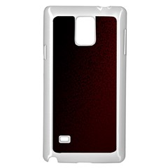 Abstract Dark Simple Red Samsung Galaxy Note 4 Case (White)