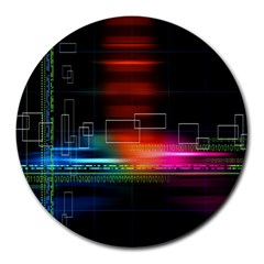 Abstract Binary Round Mousepads