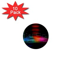Abstract Binary 1  Mini Buttons (10 Pack)
