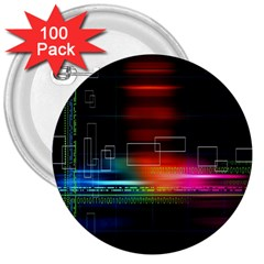 Abstract Binary 3  Buttons (100 Pack)
