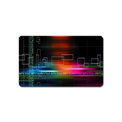 Abstract Binary Magnet (name Card)