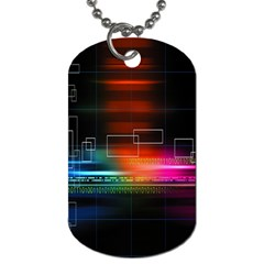 Abstract Binary Dog Tag (One Side)