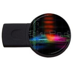 Abstract Binary USB Flash Drive Round (4 GB)