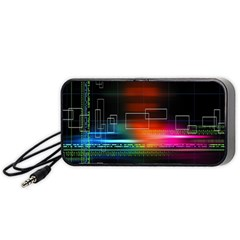 Abstract Binary Portable Speaker (Black)