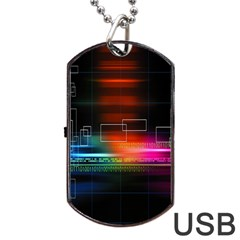 Abstract Binary Dog Tag Usb Flash (one Side)