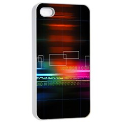 Abstract Binary Apple iPhone 4/4s Seamless Case (White)