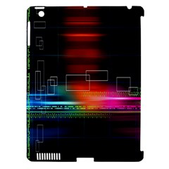 Abstract Binary Apple iPad 3/4 Hardshell Case (Compatible with Smart Cover)