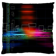 Abstract Binary Large Cushion Case (one Side)