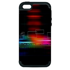 Abstract Binary Apple iPhone 5 Hardshell Case (PC+Silicone)