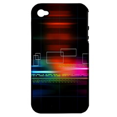 Abstract Binary Apple Iphone 4/4s Hardshell Case (pc+silicone)