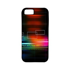 Abstract Binary Apple iPhone 5 Classic Hardshell Case (PC+Silicone)