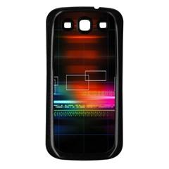 Abstract Binary Samsung Galaxy S3 Back Case (Black)