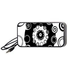 Fluctuation Hole Black White Circle Portable Speaker (black)