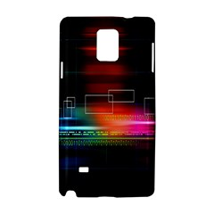 Abstract Binary Samsung Galaxy Note 4 Hardshell Case