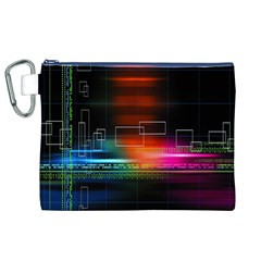 Abstract Binary Canvas Cosmetic Bag (XL)
