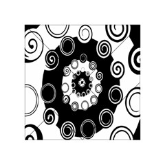 Fluctuation Hole Black White Circle Acrylic Tangram Puzzle (4  X 4 )