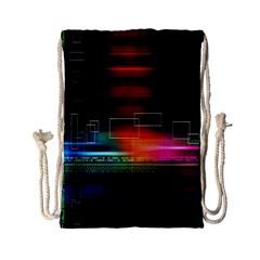Abstract Binary Drawstring Bag (Small)