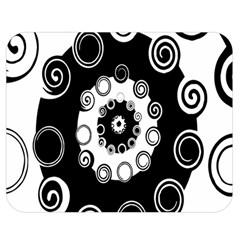 Fluctuation Hole Black White Circle Double Sided Flano Blanket (medium)