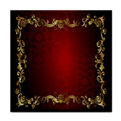 3d Red Abstract Pattern Tile Coasters