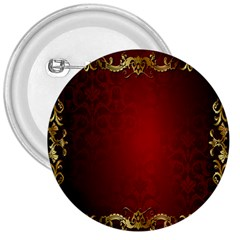 3d Red Abstract Pattern 3  Buttons