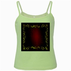 3d Red Abstract Pattern Green Spaghetti Tank