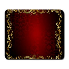 3d Red Abstract Pattern Large Mousepads