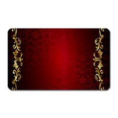 3d Red Abstract Pattern Magnet (Rectangular)