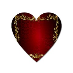 3d Red Abstract Pattern Heart Magnet