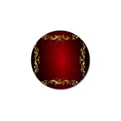 3d Red Abstract Pattern Golf Ball Marker
