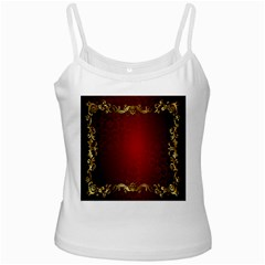3d Red Abstract Pattern Ladies Camisoles