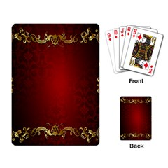 3d Red Abstract Pattern Playing Card