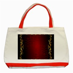 3d Red Abstract Pattern Classic Tote Bag (Red)