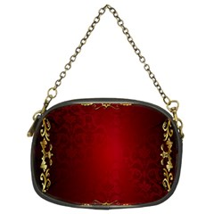 3d Red Abstract Pattern Chain Purses (two Sides)
