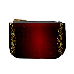 3d Red Abstract Pattern Mini Coin Purses