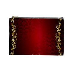 3d Red Abstract Pattern Cosmetic Bag (large)