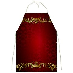 3d Red Abstract Pattern Full Print Aprons