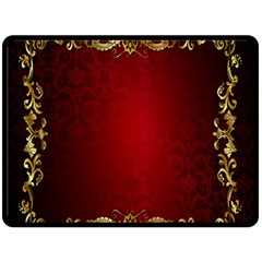 3d Red Abstract Pattern Fleece Blanket (large)