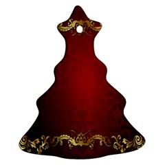3d Red Abstract Pattern Christmas Tree Ornament (Two Sides)