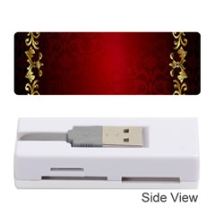 3d Red Abstract Pattern Memory Card Reader (stick)