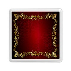 3d Red Abstract Pattern Memory Card Reader (square)