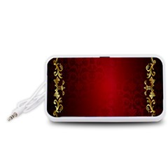 3d Red Abstract Pattern Portable Speaker (White)