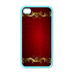 3d Red Abstract Pattern Apple iPhone 4 Case (Color)