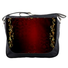 3d Red Abstract Pattern Messenger Bags